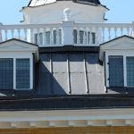 Leadwork on roof