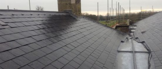 Cirencester Slate gutters and lead roofs